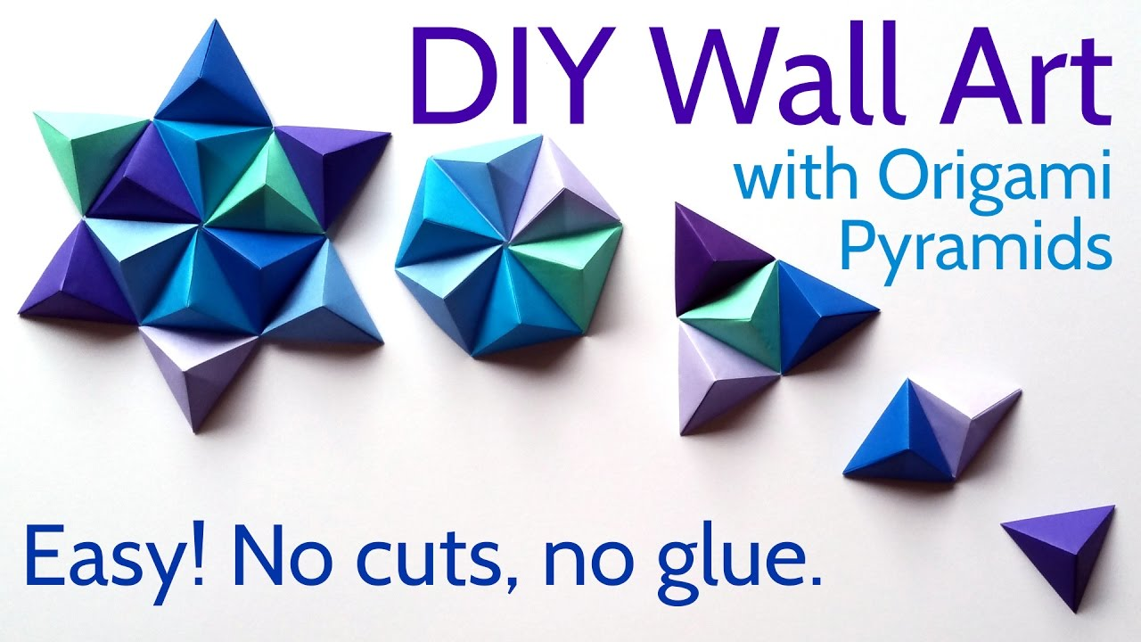 Diy Paper Wall Art With Origami Pyramid Pixels Easy