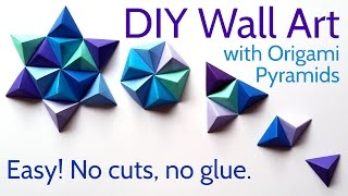Diy Paper Wall Art With Origami Pyramid Pixels   Easy Tutorial And Decorating Ideas