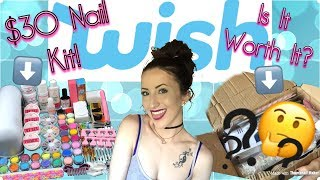 $33 Nail Kit from WISH!? | WATCH MY FOLLOW UP VIDEO! |
