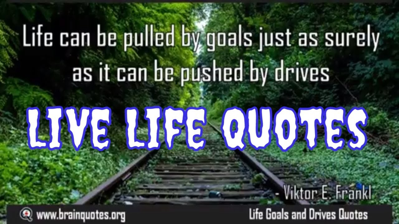 Just Live Life Quotes Best Quotes On Life  How To Live Your Life  Youtube