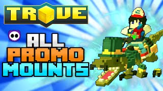 ALL PROMO CODE MOUNTS IN TROVE (Check Description for How to Get)