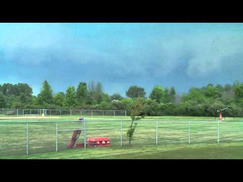 Tornado in the sky at Davison High School Aug 19 2010