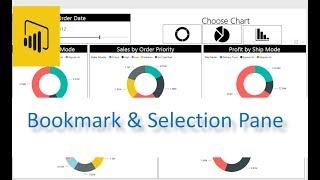 Power BI BookmarkSelection Pane Features PBI Desktop