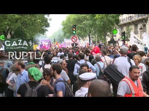 Live: French left unites against Macron programme