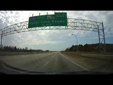 Driving on Interstate 20 from Shreveport, LA to Waskom, Texas