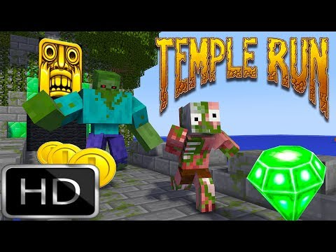 Monster School | TEMPLE RUN - Minecraft Animations
