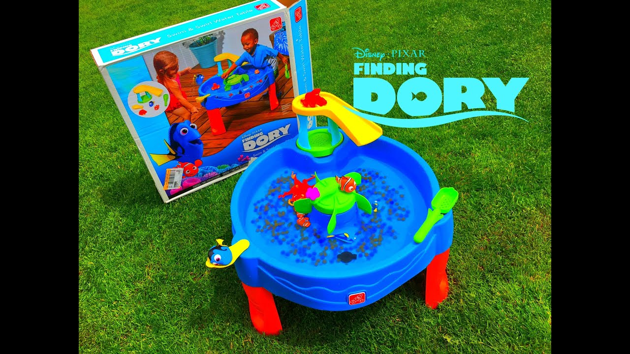 Finding Dory WATER TABLE Toys In Orbeez Water Toys Step2   YouTube