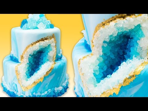 Thumbnail: How to Make a Geode Cake (Geode Wedding Cake) with Rock Candy