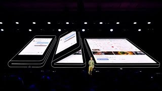 Samsung New unveils foldable Review  flexible phone new Infinity Flex Display