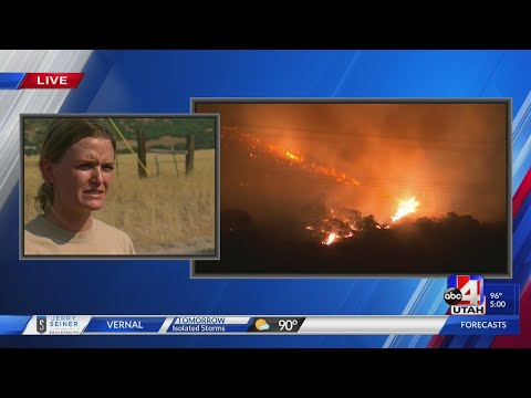 Middle Canyon Fire burning in Tooele County