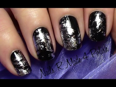 Messy Foil Nails Einfaches Folien Nageldesign Fur Kurze Nagel