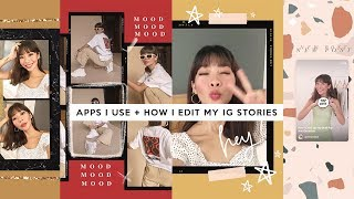 Apps I Use + How I Edit My IG Stories (Vintage/Retro Style) | Rhea Bue