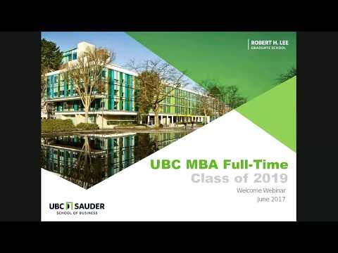 FT MBA Class of 2019 Welcome Webinar