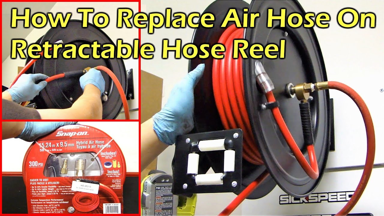 YouTube Premium  sc 1 st  YouTube & How To Replace Air Hose on Retractable Hose Reel - YouTube