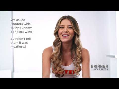 T-Bone - Hooters Launches Meatless Wings-And Hooters Girls Can't Tell The Difference