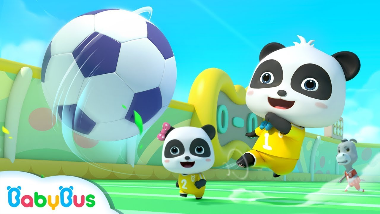 Little Panda's Soccer Game | Football Player Pretend Play | Sport Song for Kids | BabyBus