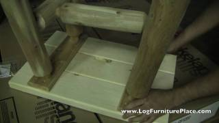 Assembly of Lakeland Mills CF1222 Log End Table by JHE's Log Furniture Place