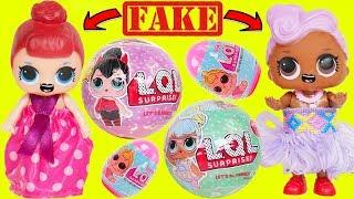 Fake LOL Surprise Dolls Dress Up Transformation + LQL Lil Sisters Custom DIY Magical Toy Video!