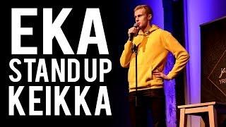 Mun ensimmäinen stand-up esiintyminen koskaan!