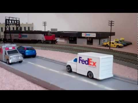 HO Scale Metra Express Train & An Amtrak Station Stop