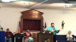 "Pastor Marvin sings ""Just like a tree"""