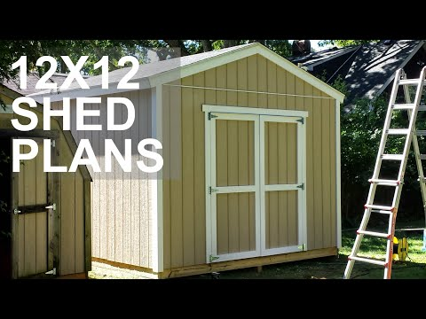 12x12 Shed Plans Video - Over 13 Shed Designs