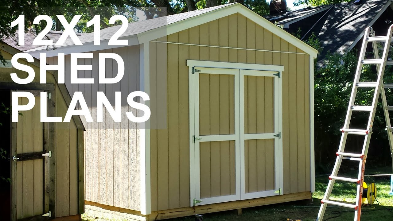 12x12 Shed Plans Video