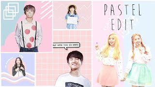 Cara Membuat Foto Pastel Edit ala K-Pop | Picsart Tutorial