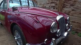 my latest classic car arrives -  a Daimler 250 V8