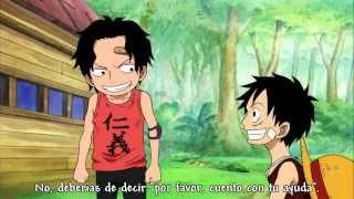 Ace y Luffy- Aprendiendo a saludar correctamente.