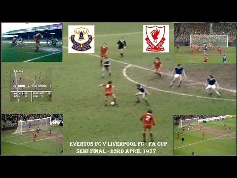 EVERTON FC V LIVERPOOL FC - FA CUP SEMI FINAL - 23RD APRIL 1977  - 2-2