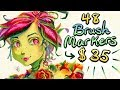 Ridiculously CHEAP High Quality Alcohol Based Markers! (Brush Tip! 48 Ct. Set!)