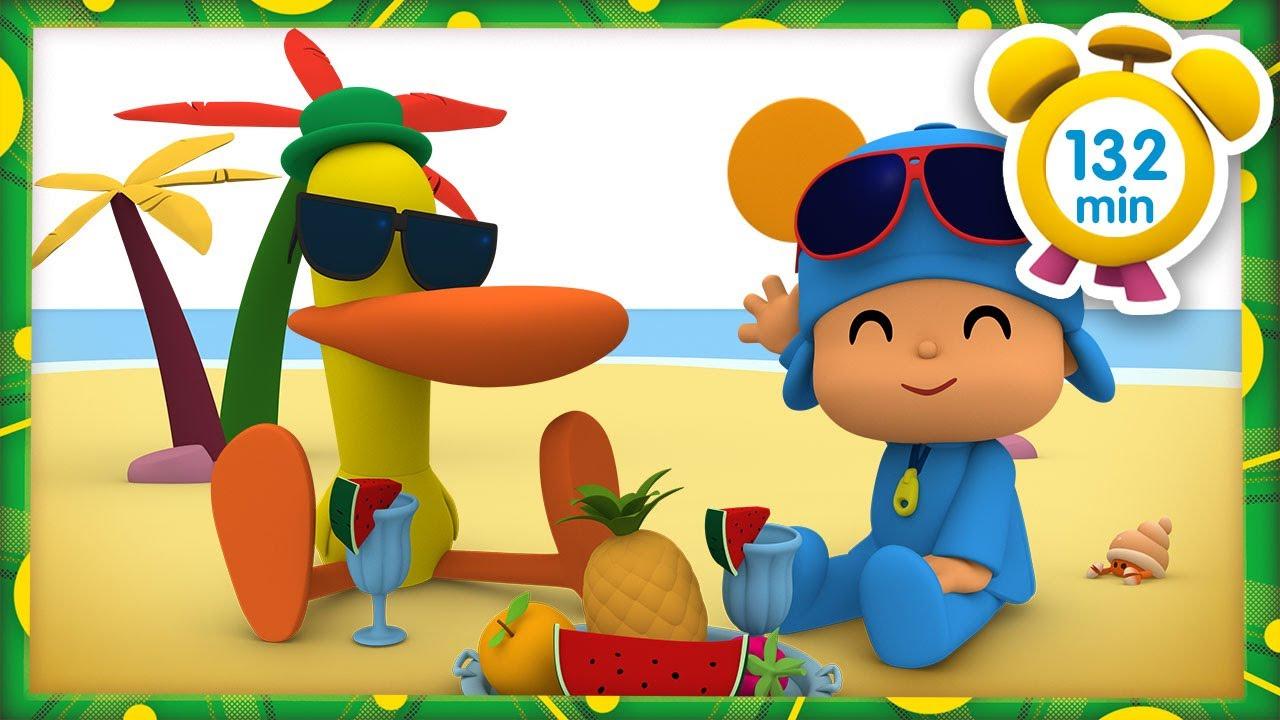 🎶 POCOYÓ en ESPAÑOL - Festival de Verano 🌴 [132 minutos] | CARICATURAS y DIBUJOS ANIMADOS para niños