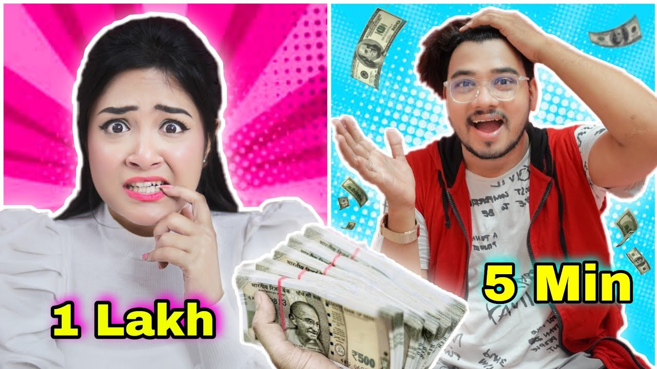 Situ-কে *1 Lakh* টাকা দিলাম 5 মিনিটের মধ্যে খরচ করার জন্য|সব টাকা শেষ😭 | Nilanjana | Situ