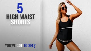 Top 10 High Waist Shorts [2018]: Fasnoya Women