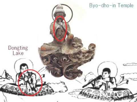 2374(1)Flying Gods in Byo doin Temple, Kyoto, Japan日本の空飛ぶ神々・宇治の平等院・52体の菩薩像byはやし浩司Hiroshi Hayashi, Ja
