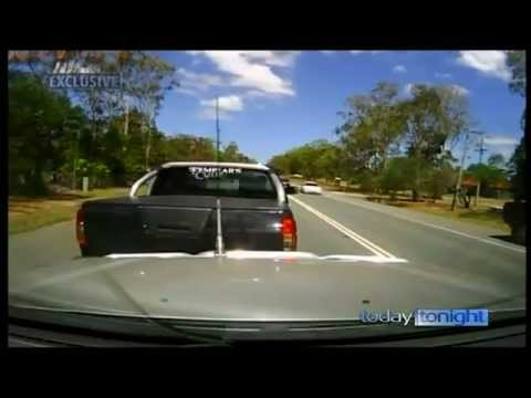 Crazy Australian Road Rage Attack Car Crash Car Chase Rammed 7 Times Australia
