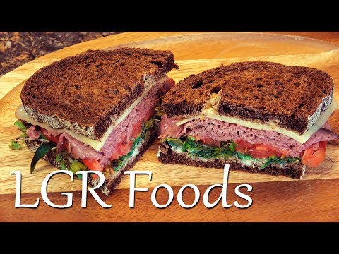 LGRwich №14 - Roast London Broil Pumpernickel