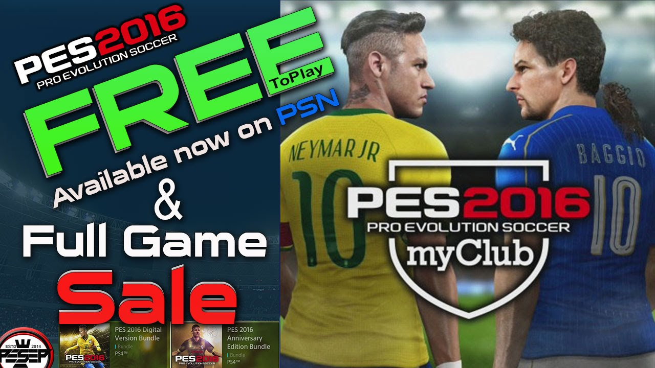 10a764fc9c PES 2016 myClub FREE To play Available now! PS4   PS3. - YouTube