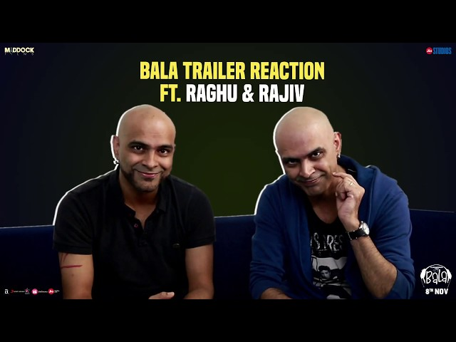 Raghu-Rajeev Bala Trailer Reaction| Ayushmann, Bhumi, Yami | Dinesh Vijan |Amar Kaushik | 8th Nov'19