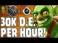 30K DARK ELIXIR PER HOUR! - EASY TH9 DE FARMING - Clash of Clans