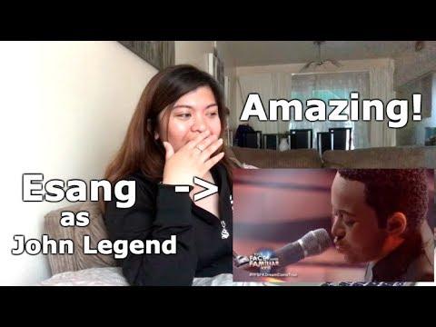 Esang De Torres as John Legend | All Of Me REACTION (Your Face Sounds Familiar Kids 2018)