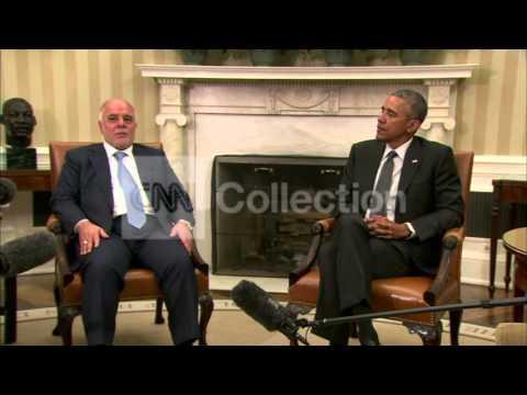 OBAMA BILAT MEETING IRAQI PM HAIDER AL-ABADI