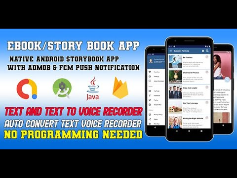 EBooks / Story Book Apps Template Android Studio Source Code With AdMob