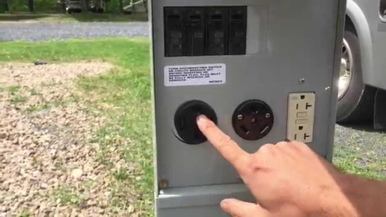 shore power wiring diagram 02 honda civic radio how to hook up or electricity your motorhome/rv - youtube