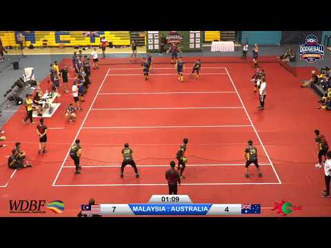 Day 2:  MALAYSIA Vs AUSTRALIA Dodgeball World Championship Cancun 2019