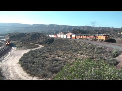 A Busy Day of Trains on Cajon Pass in July 2015 Part 2 HD