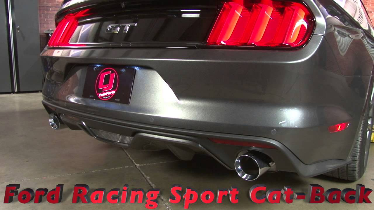 Mustang Gt Ford Racing By Borla Touring Cat Back Exhaust