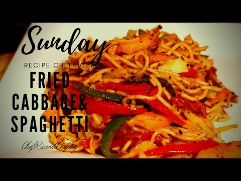 Fried Cabbage With Spaghetti Sunday Dinner | Eat Healthy Live Longer | How To Make Fried Cabbage!!