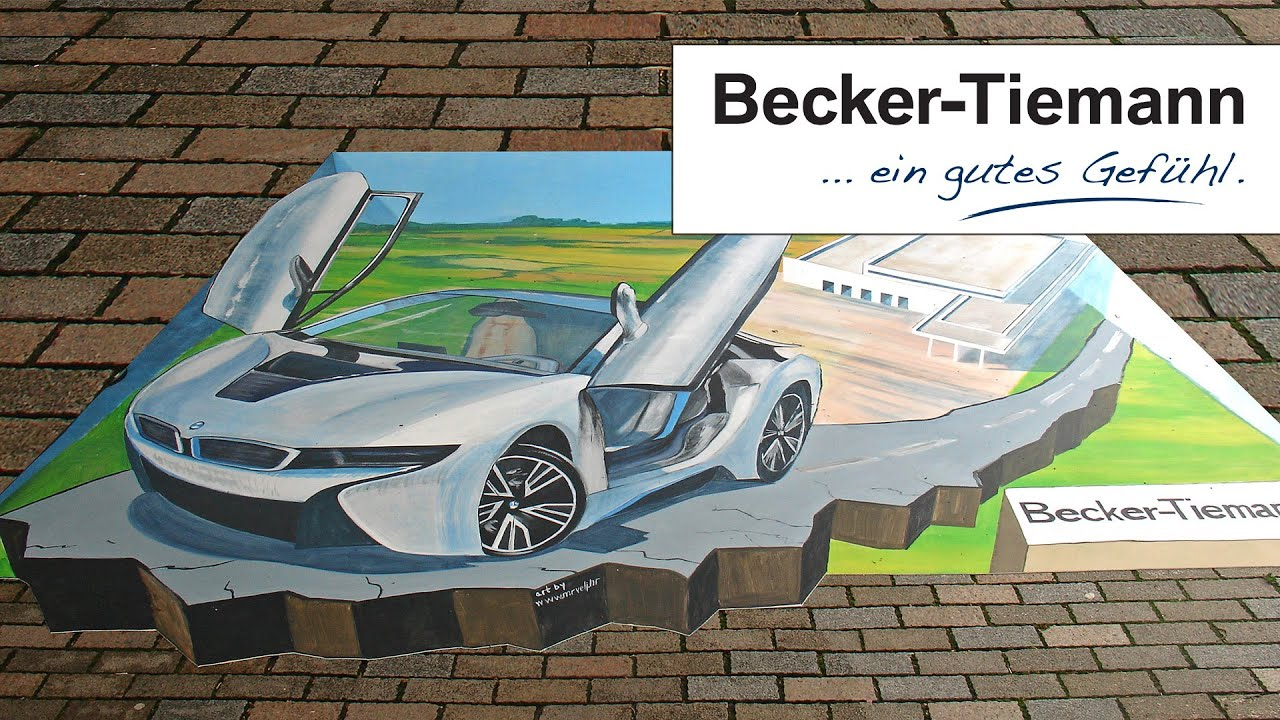 bmw i8 street art la strada bielefeld youtube. Black Bedroom Furniture Sets. Home Design Ideas
